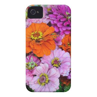 Orange and purple dahlia flowers iPhone 4 covers