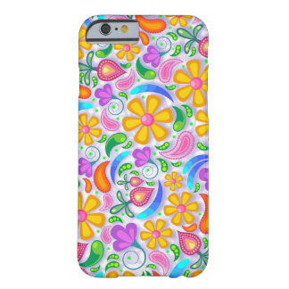 Orange and Purple Floral Patterned Phone Case
