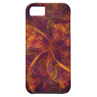 Orange And Purple Fractal Swirl Tough iPhone 5 Case