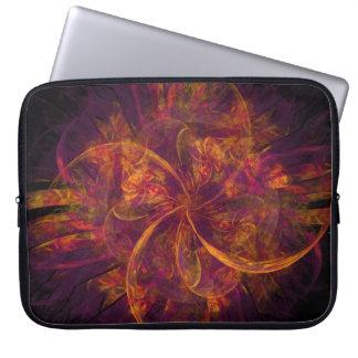 Orange And Purple Fractal Swirl Laptop Computer Sleeves
