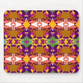 Orange and Purple Plaid Mousepad