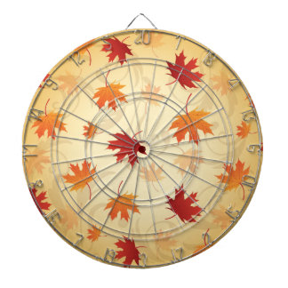 Orange and Red Autumn, Fall, Leaves Dartboards