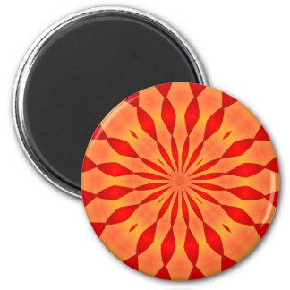 Orange and Red Burst Magnet