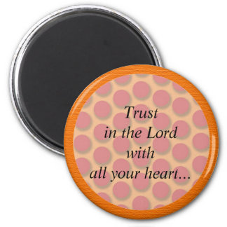 Orange and Red Dots Christian Bible Verse Magnet