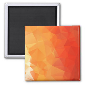 Orange and Red Facet Pattern Magnet