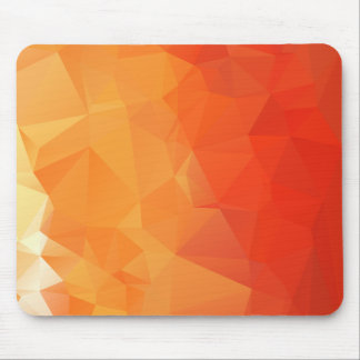 Orange and Red Facet Pattern Mouse Pad