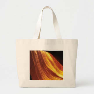orange and red flow large tote bag