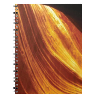 orange and red flow notebook