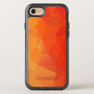 Orange and Red Geometric Facets OtterBox Symmetry iPhone 8/7 Case