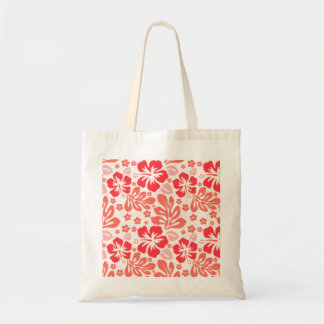 Orange and red hibiscus pattern - Hawaii!
