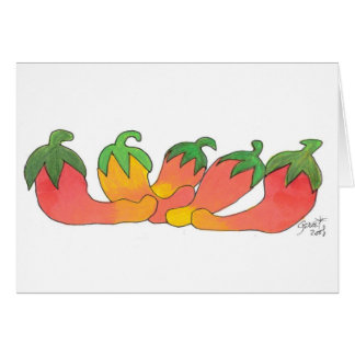 Orange and Red Peppers Card
