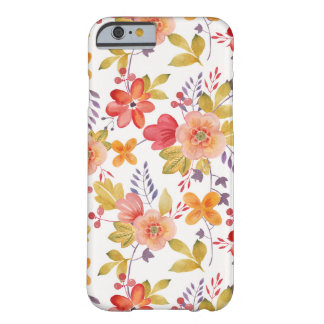 Orange and Red Spring Flowers Pattern Barely There iPhone 6 Case