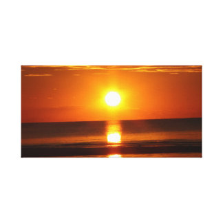 Orange and Red Sunset at Cape Cod Canvas Prints