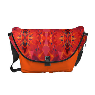 Orange And Red Vintage Abstract Pattern Courier Bags