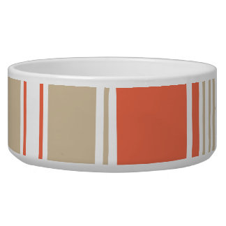 Orange and Tan Modern Stripes