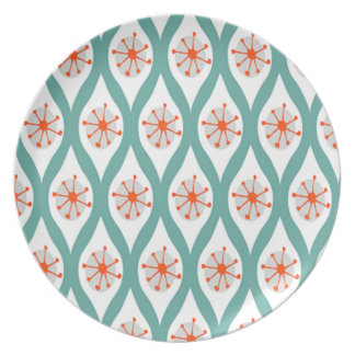 Orange and Teal Abstract Dinner Plates