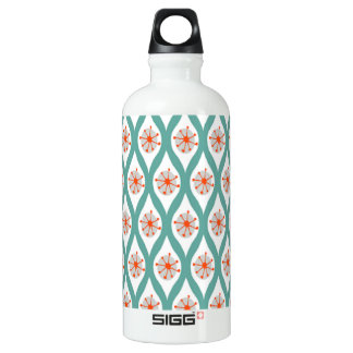 Orange and Teal Abstract SIGG Traveller 0.6L Water Bottle