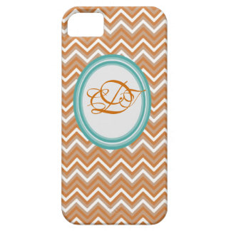 Orange and Teal Chevron Iphone Case Mate case iPhone 5 Cover