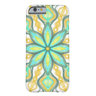 Orange and Turquoise Spring Flower Abstract Barely There iPhone 6 Case