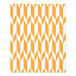 Orange and White Abstract Graphic Pattern. Full Color Flyer