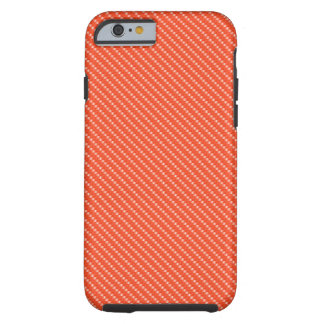 Orange and White Carbon Fiber Pattern Base Tough iPhone 6 Case