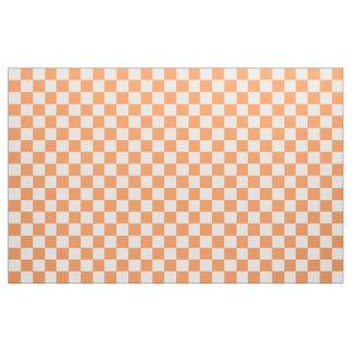 Orange And White Chequered Fabric
