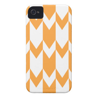 Orange and White Chevron Pattern. iPhone 4 Covers