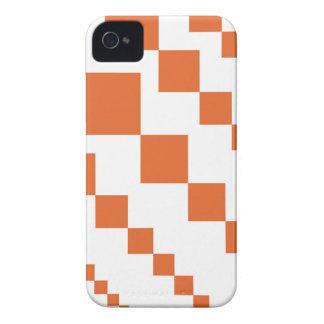 Orange and White Descending Diamond iPhone 4 Case