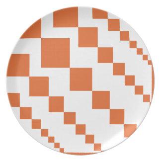 Orange and White Descending Diamond Plate