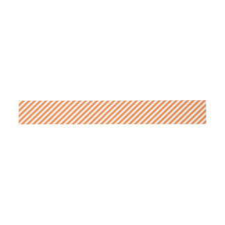 Orange and White Diagonal Stripes Pattern Invitation Belly Band