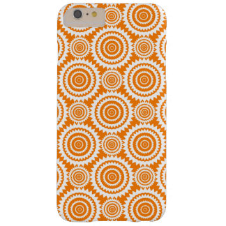 Orange and White Geometric Circles Pattern Barely There iPhone 6 Plus Case