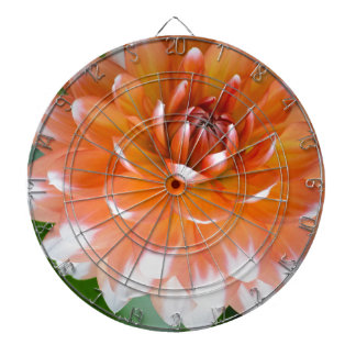 Orange and White Glory Dartboard