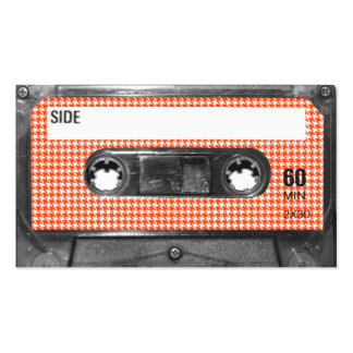 Orange and White Houndstooth Label Cassette Pack Of Standard Business Cards