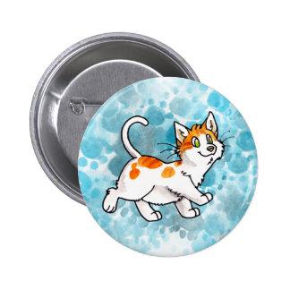 Orange and White Kitty Pins