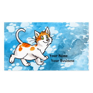 Orange and White Kitty Business Card