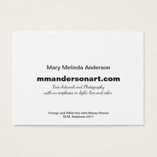 Orange and White Koi Artist Business Card
