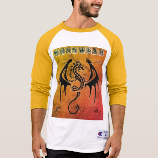 Orange and white Moss Wear Long Sleeve T-Shirt