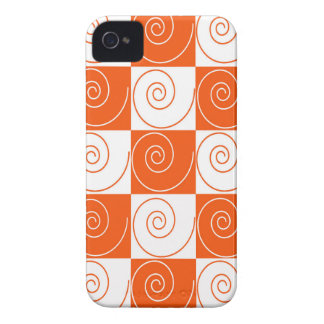 Orange and White Mouse Tails iPhone 4 Cover
