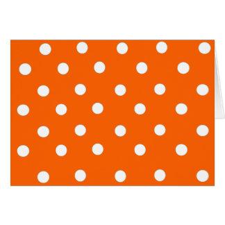 Orange and White Polka Dot  Blank Card
