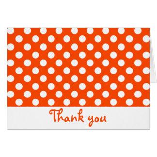 Orange and White Polka Dot Thank You Notes