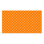 Orange and White Polka Dots Business Card Templates