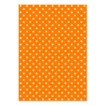 Orange and White Polka Dots Business Cards