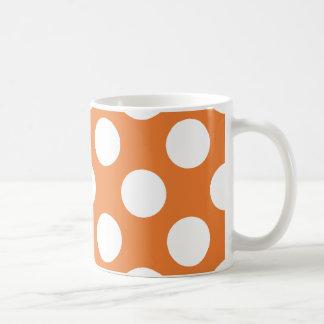 Orange and White Polka Dots Mug