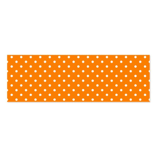 Orange and White Polka Dots Pack Of Skinny Business Cards