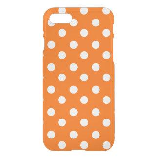Orange and White Polka Dots Pattern iPhone 7 Case