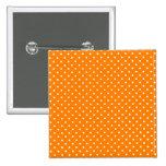Orange and White Polka Dots Pins