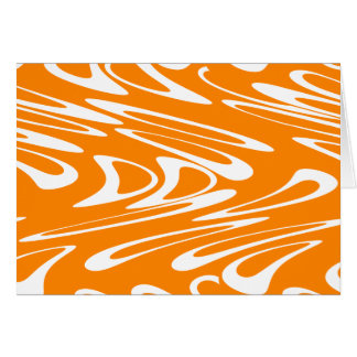 Orange and White Retro Pattern Card