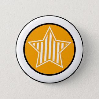 Orange and White Star Button