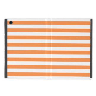 Orange and White Stripe Pattern Case For iPad Mini