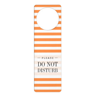 Orange and White Stripe Pattern Door Hanger